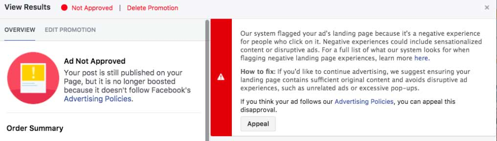 Why Are My Facebook Ads Getting Rejected? | AIA